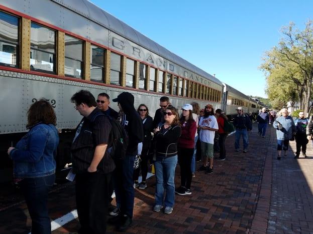 All aboard the Grand Canyon Railway Train.
