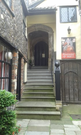Entrance to Strangers' Hall