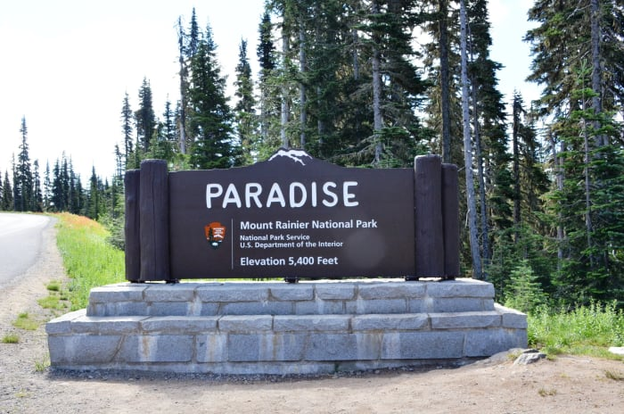 Paradise sign @ Mount Rainier National Park