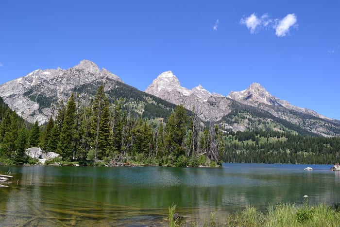Taggart Lake in Grand Teton National Park, Wyoming