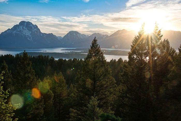 Jackson Overlook at Sunset at Signal Mountain, Grand Teton National Park, Wyoming