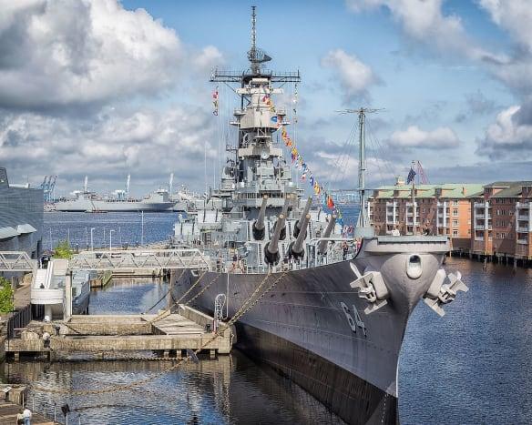 Battleship Wisconsin in Norfolk, VA