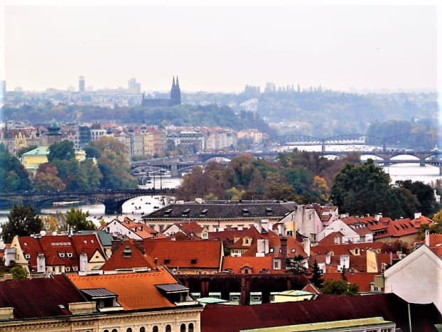 Vysehrad from beyond Prague Castle.