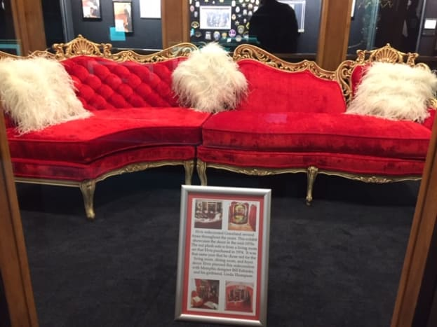 """Furniture from the 1970s """"red period"""" of Graceland."""
