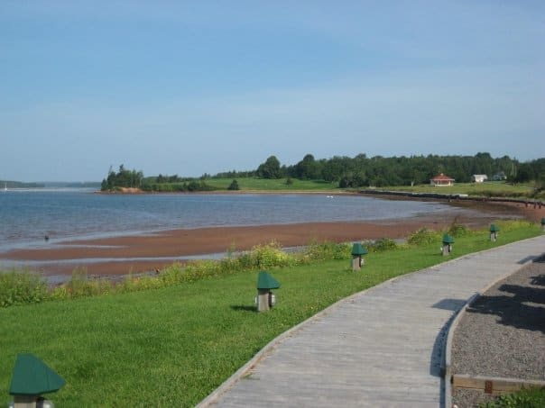 Boardwalk walking trail in eastern PEI