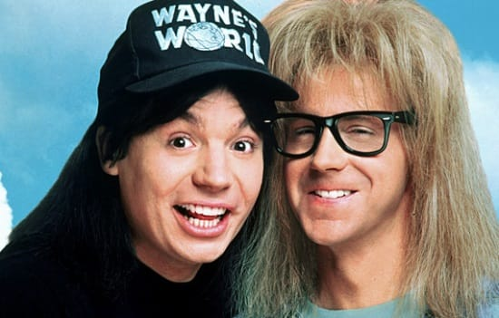 Wayne (Mike Meyers) & Garth (Dana Carvey).