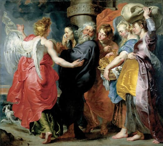 The Flight of Lot and His Family from Sodom between 1613 and 1615 Medium oil on canvas, 86¾ x 96 in. (220.3 x 243.8 cm) at the John and Mable Ringling Museum of Art