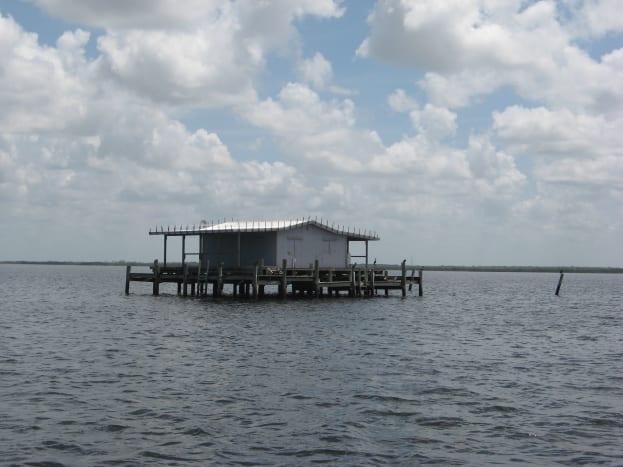 A stilt house on the Florida flats.