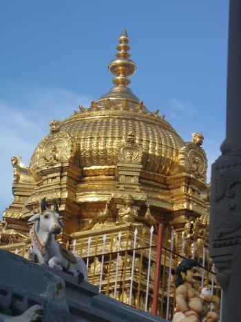 The Golden Gopuram at Palani