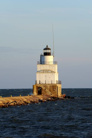 Lighthouse in Manitowoc Harbor
