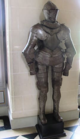 A 16th century suit of parade armor weighing 55 pounds (25 kg).