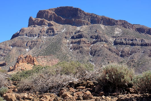 Mount Guajara - the third tallest mountain on Tenerife - stands high at 2,718m