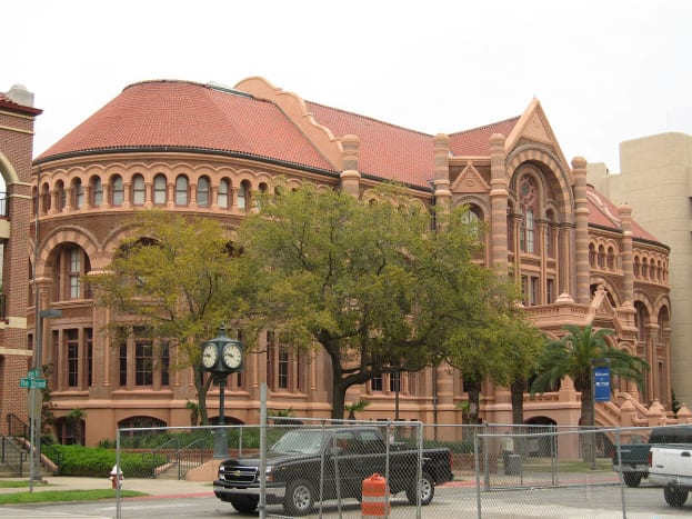Old Red, the original building on UTMB's campus in Galveston, Texas.