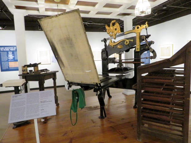 Cast-iron Columbian Press No. 1642 c.1813, George Clymer, inventor (American, 1754-1834), manufactured by Clymer Dixon &_Co., London