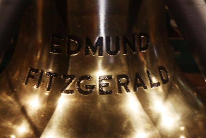Bell from the Edmund Fitzgerald at the Great Lakes Shipwreck Museum in Whitefish Point, Michigan