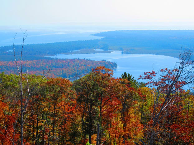 View from Mount Bohemia along the South Shore Scenic Drive - near Delaware, MI - Keweenaw Peninsula