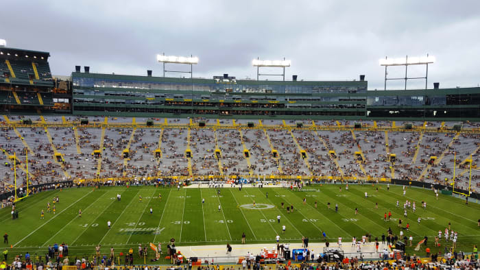 Preseason game at Lambeau Field in Green Bay, Wisconsin