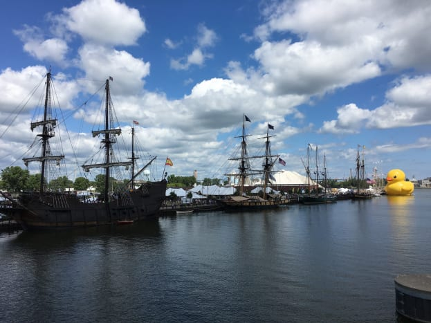 Tall Ships on the Fox River in Green Bay, Wisconsin