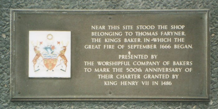 Site Where London's Great Fire Began