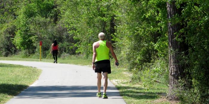 1.7 miles of paved trail at Kickerillo-Mischer Preserve