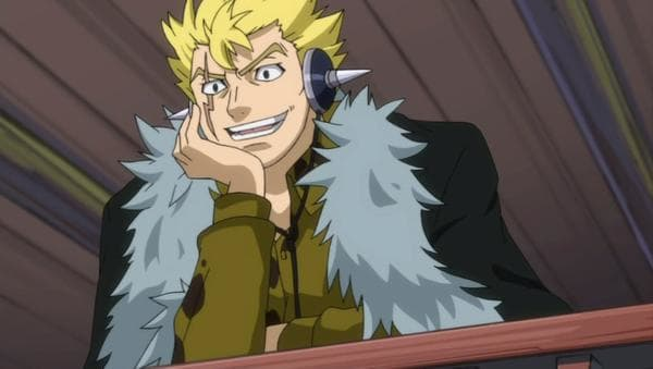 Laxus Dreyar mocking other Fairy Tail members.