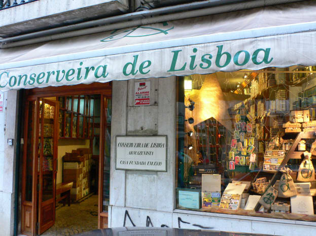 Canned sardines shop in Lisbon