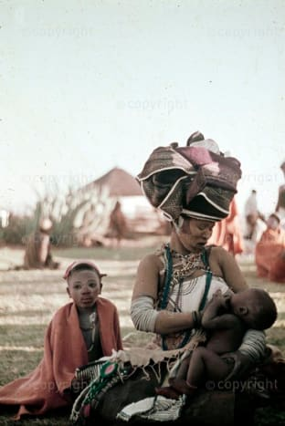 Mother and child at intonjane at Nkondlo in Transkei province,South Africa.