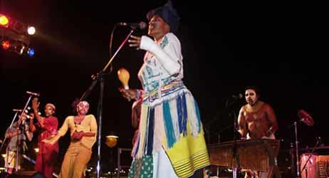 "Amampondo are one of the best known South African percussion ensembles and ambassadors of African music. ""Amampondo"" means, literally, ""people from Mpondo"" - imaginary country of the Xhosa kingdom. The ensemble formed in 1979 by Dizu 'Zungulu' Plaatj"