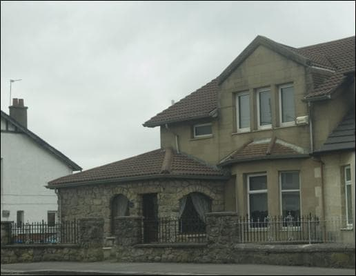 Arthur Thompson's plush home in Blackhill, Glasgow. two ex-council houses knocked into one, and dubbed the 'Ponderosa'