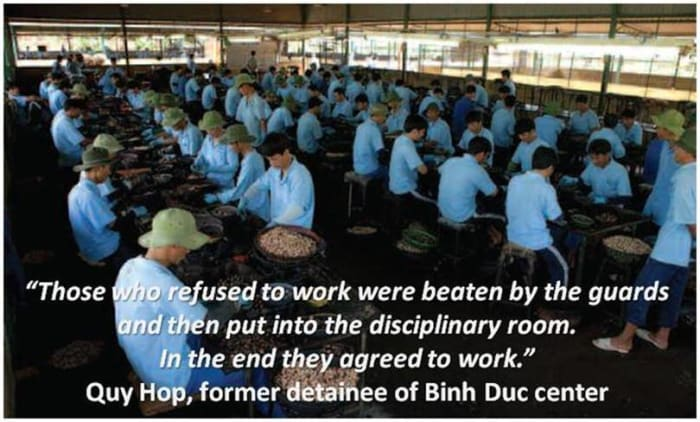 "There are over 120 ""drug rehabilitation clinics"" in Vietnam that are trapping over 40,000 drug addicts in forced labor camps."