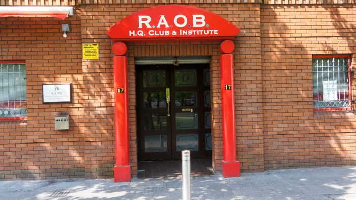 The Royal Antediluvian Order of Buffaloes (RAOB) club in Church Street, Belfast