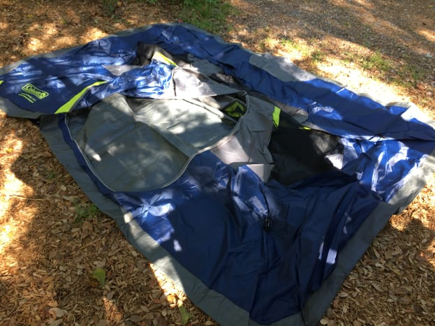 I was a little worried our tent was too big for the site when we unrolled it.