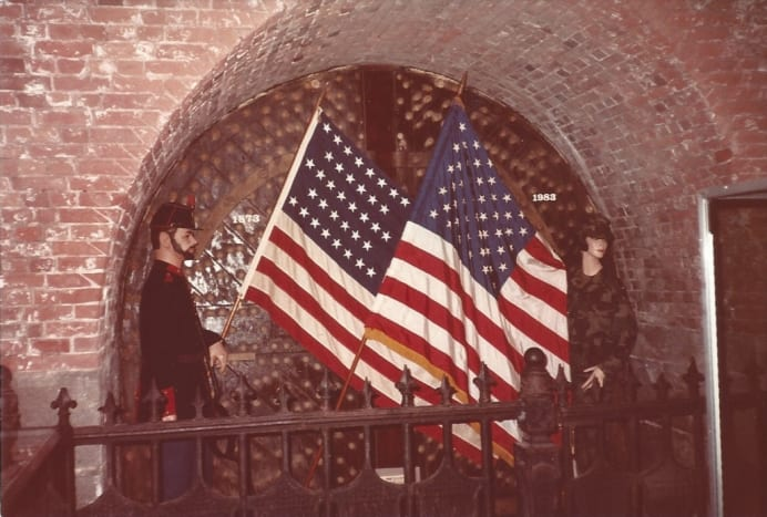 Inside the Fort Hamilton Museum, Brooklyn, December 1983,
