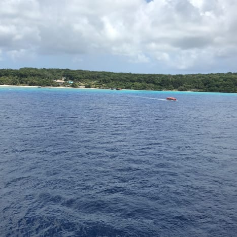 Lifou from the ship anchored offshore