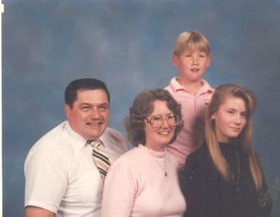 This was our last family picture in fall, 1989, for the church directory.