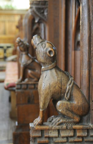 A wooden carving in the Swaffham Church