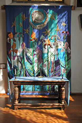 A stunning Wall Hanging, found in 'the quiet section' of the church
