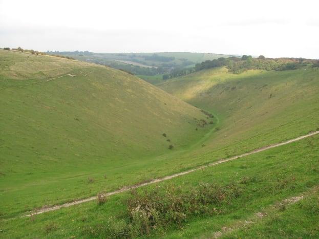 Devil's Dyke, curving towards the Weald