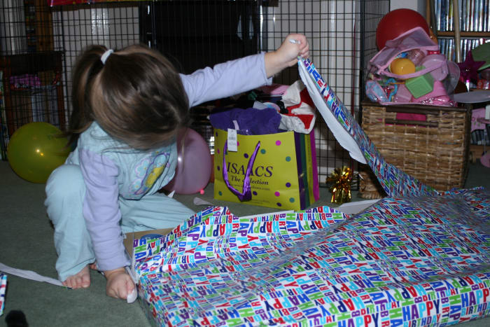 Tearing off Wrapping Paper