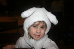 My daughter as a young sheep in a Christmas Pageant