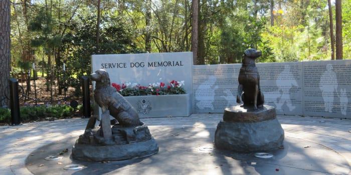 View of memorial in Houston