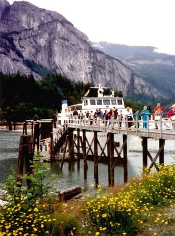 We disembark the Britannia in Squamish