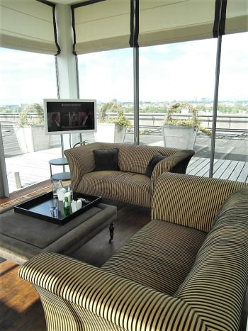 Executive lounge, Hilton Amsterdam.