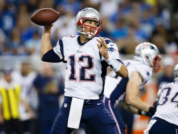 Quarterback Tom Brady primarily throws the ball and runs the offense. He's the most important position in the game.