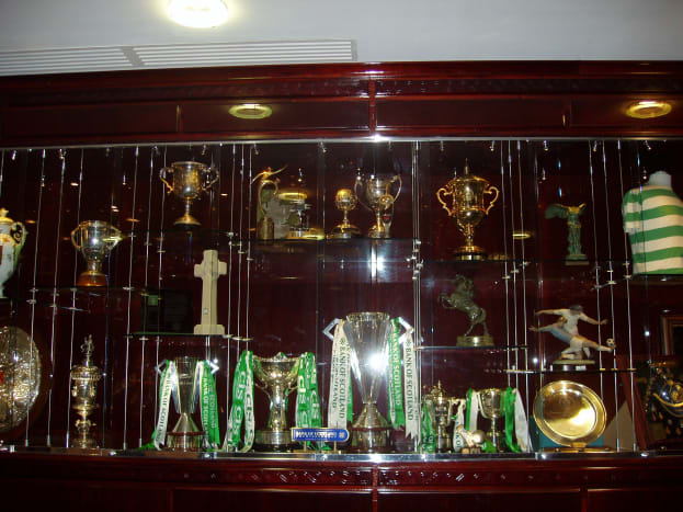 The rather large trophy cabinet at Celtic Park is a testament to the long standing success of Celtic.