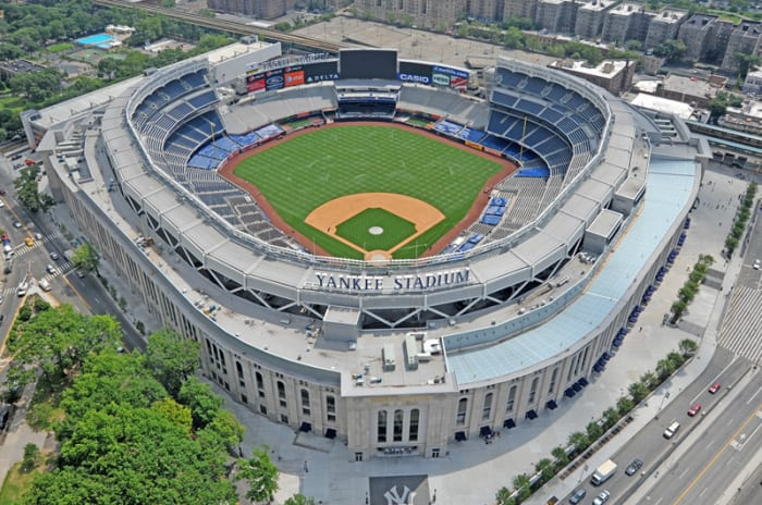 A cathedral? The new Yankee Stadium. It's lacking worshippers. Empty seats litter the lower levels, particiulary behind home plate. It's an embarrasment to Yankee ownership.