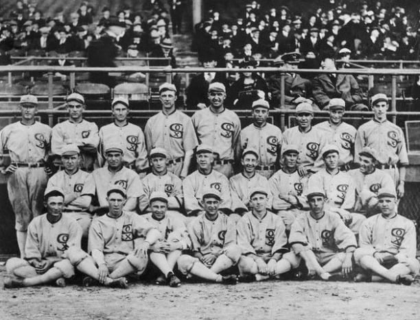 World Series scandal: The 1919 Chicago White Sox.