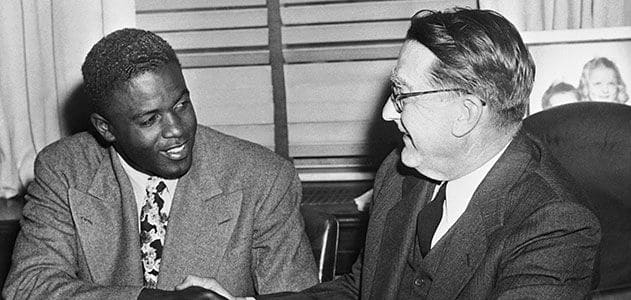 Jackie with Branch Rickey.
