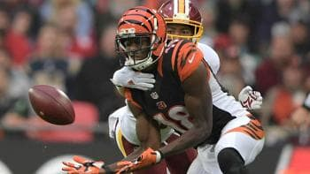 Josh Norman interfering with A.J. Green's catch.