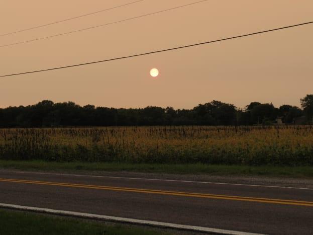 Sunset in southeast Michigan
